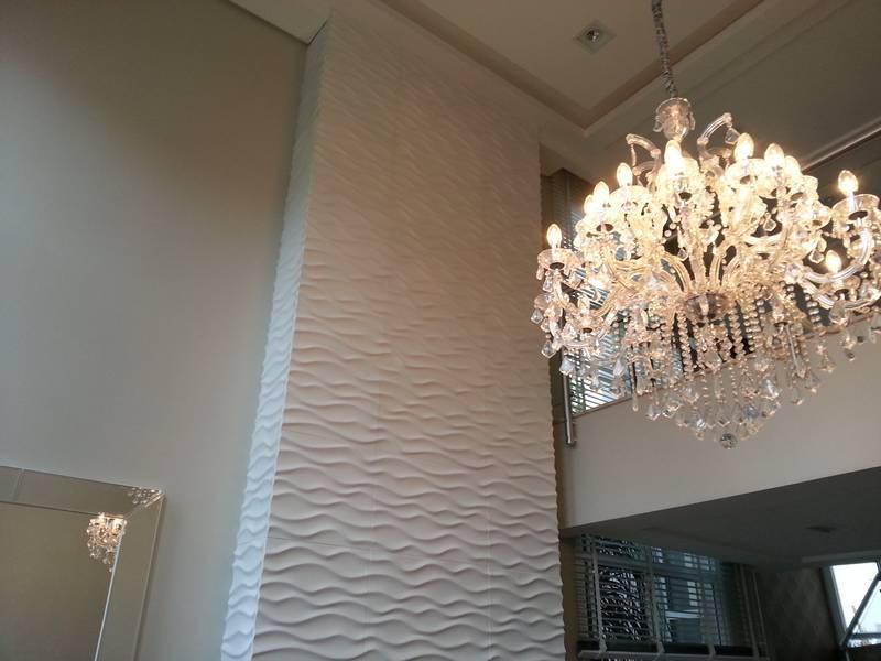 Obras personalizadas revestimento ciment cio for Revestimento 3d sala de estar
